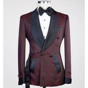 Men's Burgundy Tuxedo + Pants